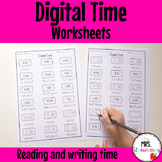 Digital Time Worksheets: Read and Write the Time