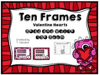 Read and Write the Room - Ten Frames - Hearts