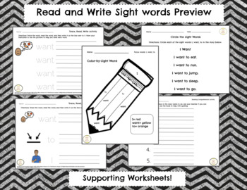 Read and Write with Sight Words from Fry list