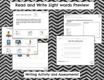 Read and Write Sight Words for Special Education WANT, I, TO