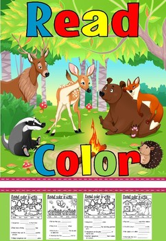 Read and color animals