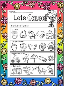 Read and color(free)