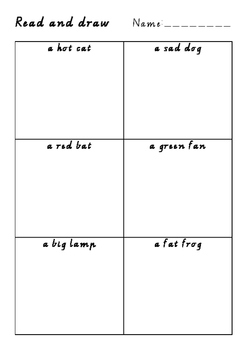 Read and draw with three differentiated levels