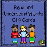 Reading task cards - clip cards for center work and reading practice!