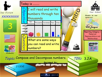 Read and write numbers up to ten thousands
