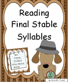 Reading Final Stable [Vowel] Syllables--Unit 6