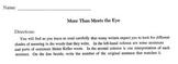 Read for Meaning Worksheet (Matching) - Interpret what Helen Keller meant!