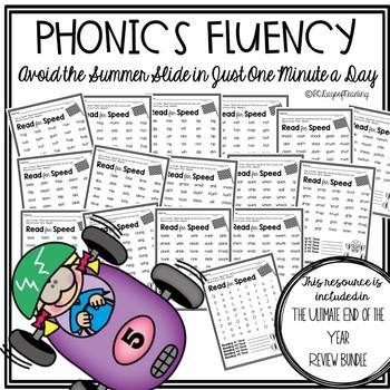 Summer Reading Fluency Packet
