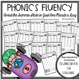 Fluency Packet to Practice Phonics Great for Back to School!