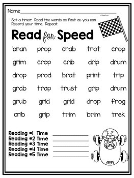 Free Fluency Homework