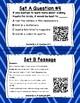 Read for Understanding QR Code Task Cards Set 2 IREAD Practice