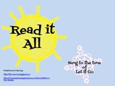 """Read it All"" Summer Reading Song for Classroom or Library"