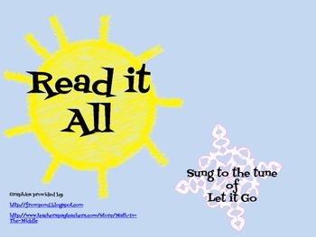"""""""Read it All"""" Summer Reading Song for Classroom or Library"""