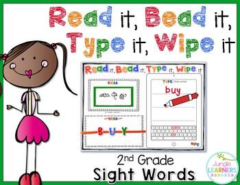 Sight Words 2nd Grade: Read, Bead, Type & Wipe