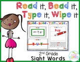 Sight Words 2nd Grade: Read it, Bead it, Type it, Wipe it