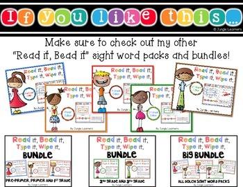 Read it, Bead it, Type it, Wipe it- A Color Word FREEBIE
