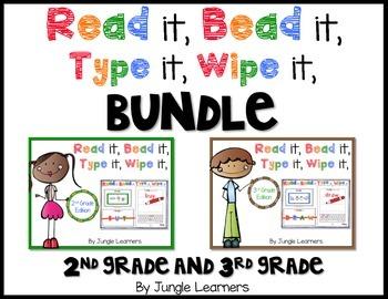 Sight Words Advanced Bundle: Read, Bead, Type & Wipe