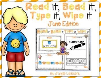 Read it, Bead it, Type it, Wipe it [June Edition]