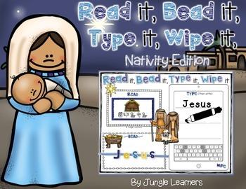 Read it, Bead it, Type it, Wipe it [Nativity Edition]