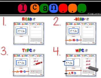 Sight Words Pre-Primer: Read, Bead, Type & Wipe