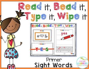 Sight Words Primer: Read, Bead, Type & Wipe