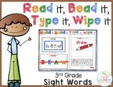 Sight Words 3rd Grade: Read it, Bead it, Type it, Wipe it