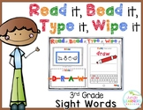 Sight Words 3rd Grade: Read, Bead, Type & Wipe