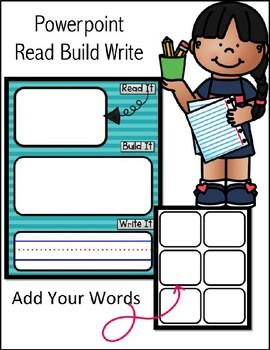 Read it, Build It & Write It MATS