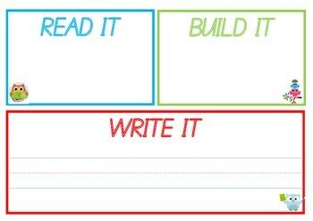 Read it Build it Write It Owl