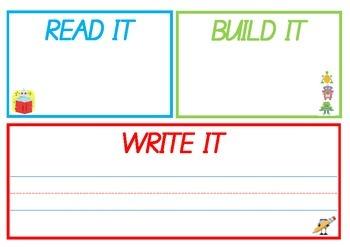 Read it, Build it, Write it. Robot
