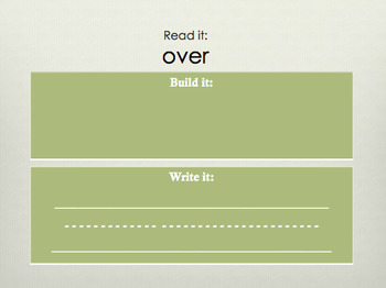Read it, Build it, Write it - Word Work