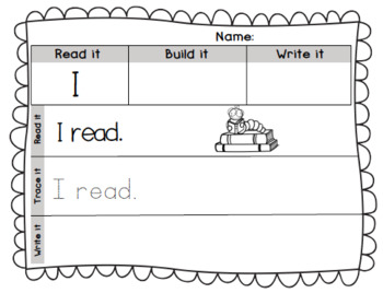 Read it, Build it, Write it, Change it! Sight Word Practice