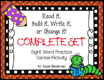 Read it, Build it, Write it, Change it! Sight Word Practice Journeys Units 1-6