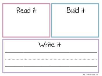 Read it, Build it, Write it! Reversible Board (Engl/Span)