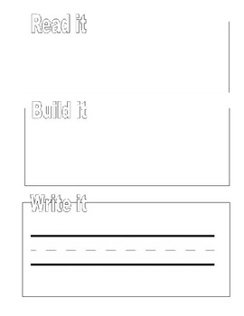 Read it, Build it, Write it! Sight Word Mat