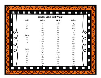 Read it, Build it, Write it! Sight Word Practice Journeys Units 1-3