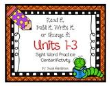 Read it, Build it, Write it! Sight Word Practice Journeys