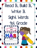 Read it, Build it, Write it Sight Words 1st Grade