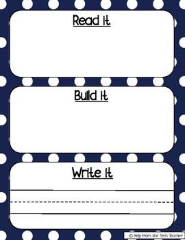 Read it, Build it, Write it Sight Words 1st Grade