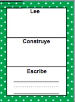 Read it Build it Write it Spanish (Editable)