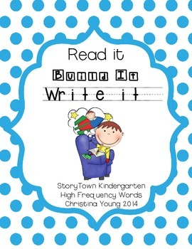 Read it, Build it, Write it (StoryTown High Frequency Words)
