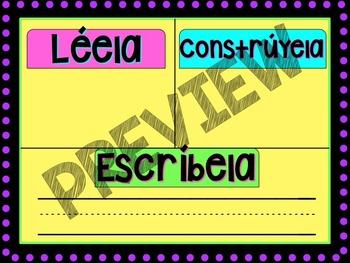 Read it, Build it, Write it in SPANISH
