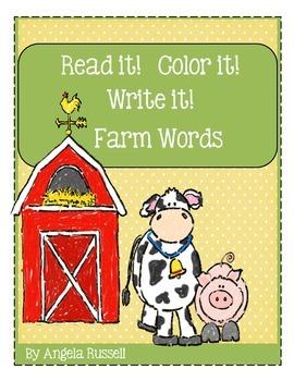 Read it!  Color it!  Write it! ~ Farm Words
