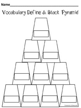 Pringles Can Pyramids Read it, Define it, Solve it, Stack it