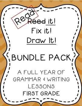 Read it! Fix it! Draw it! BUNDLE PACK, First Grade Grammar and Writing Practice