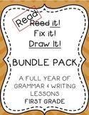 Read it! Fix it! Draw it! BUNDLE PACK, First Grade Grammar