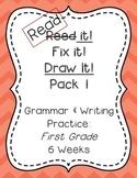 Read it! Fix it! Draw it! Pack 1, First Grade Grammar and