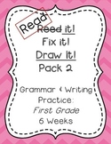 Read it! Fix it! Draw it! Pack 2, First Grade Grammar and Writing Practice