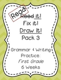Read it! Fix it! Draw it! Pack 3, First Grade Grammar and Writing Practice