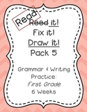 Read it! Fix it! Draw it! Pack 5, First Grade Grammar and Writing Practice